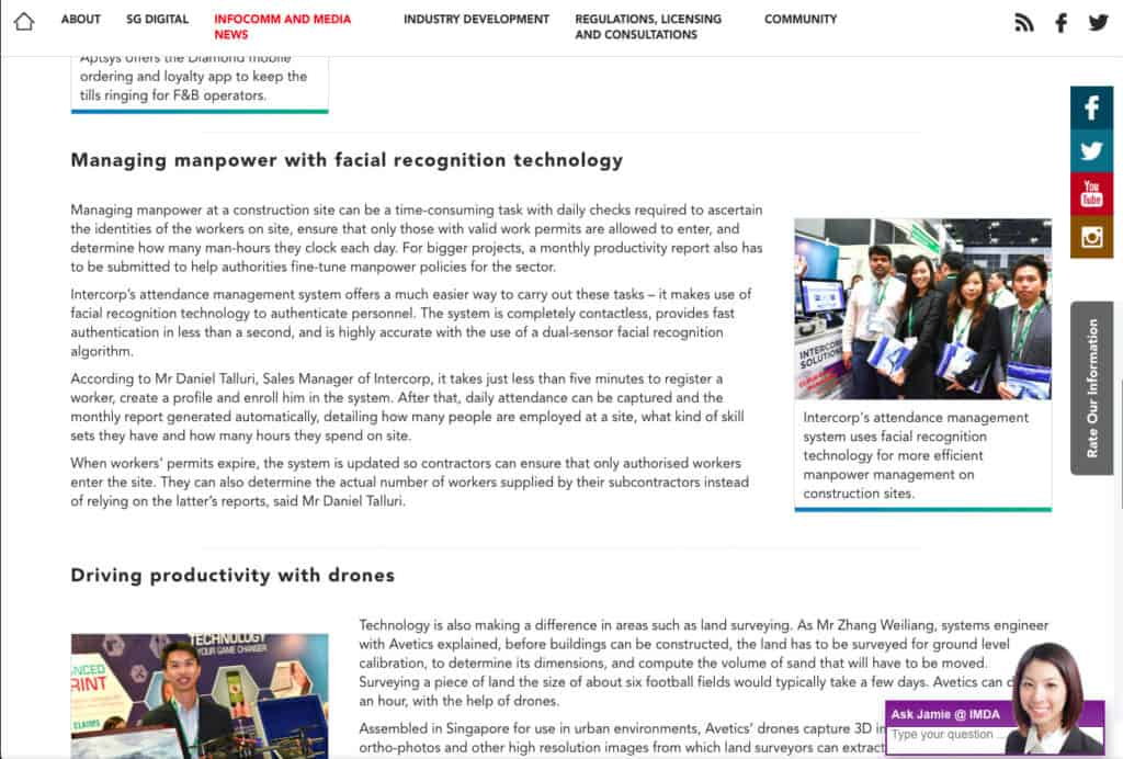Business Transformers, IMDA Featured Article