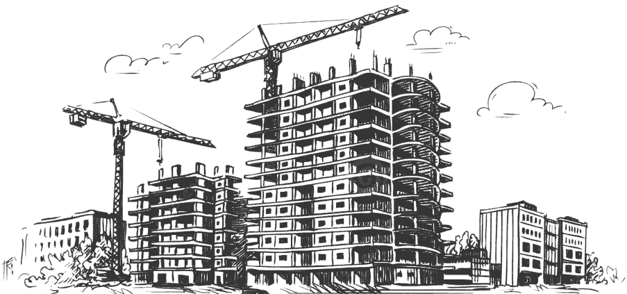 Drawing of HDB Buildings under construction