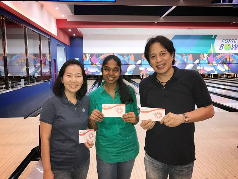 Intercorp home event - Bowling Tournament winners 2