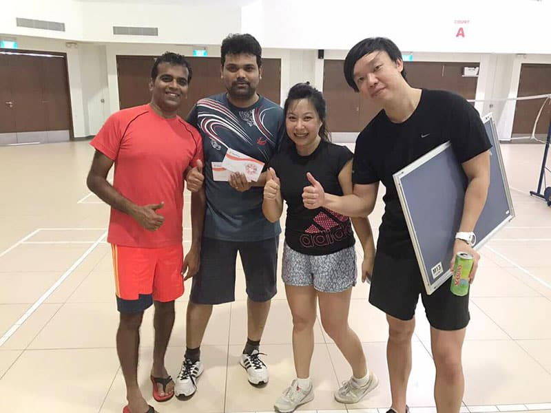 Intercorp Home Event - Badminton Doubles Tournament winners