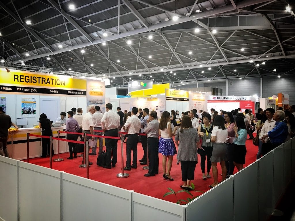 Registration at Buildtech Asia 2017, Singapore