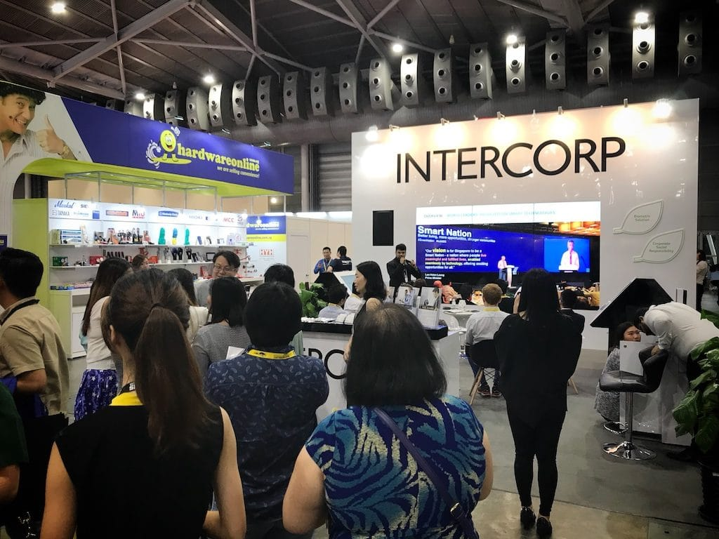 Intercorp booth 2 at Buildtech Asia 2017, Singapore