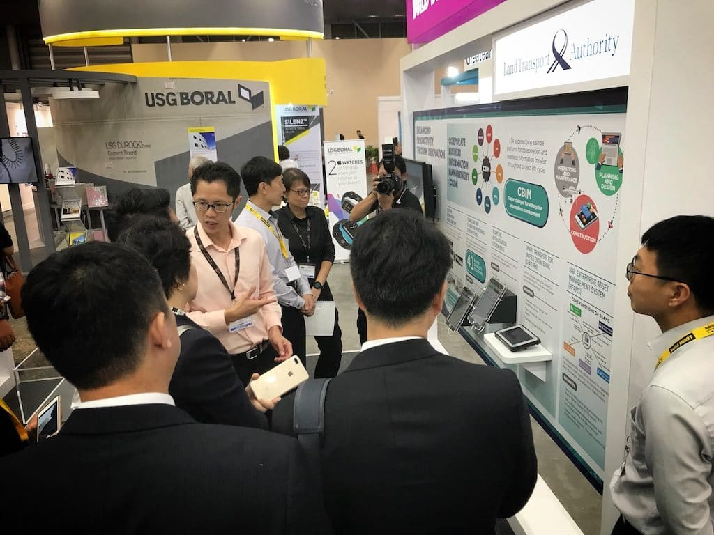 Discussion at intercorp booth in Buildtech Asia 2017, Singapore