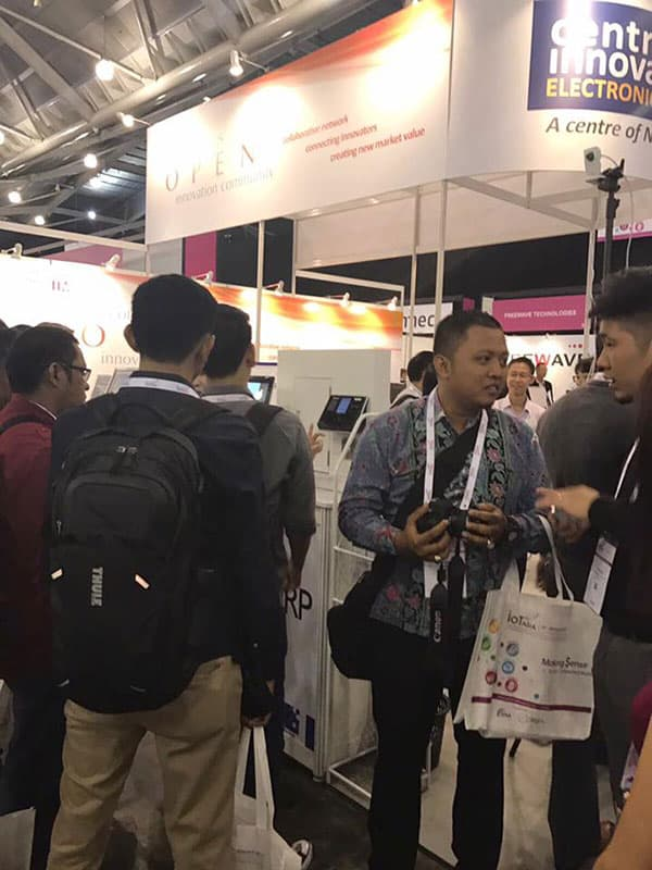 People around the booth at We are at IoT (Internet of Things) Asia 2017