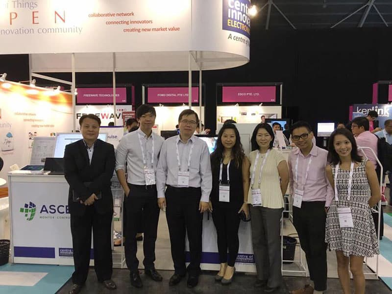 Team at the booth at We are at IoT (Internet of Things) Asia 2017