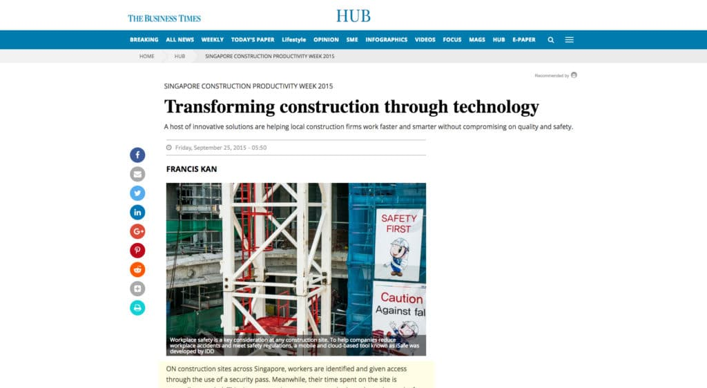 BT Article HUB Section: Transforming Construction Through Technology