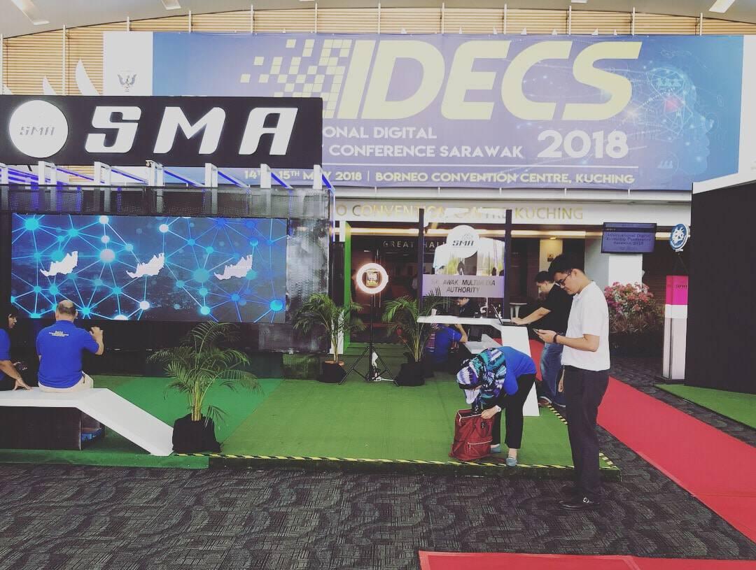 Successful Exhibition @ IDECS (International Digital Economy Conference) Sarawak 2018