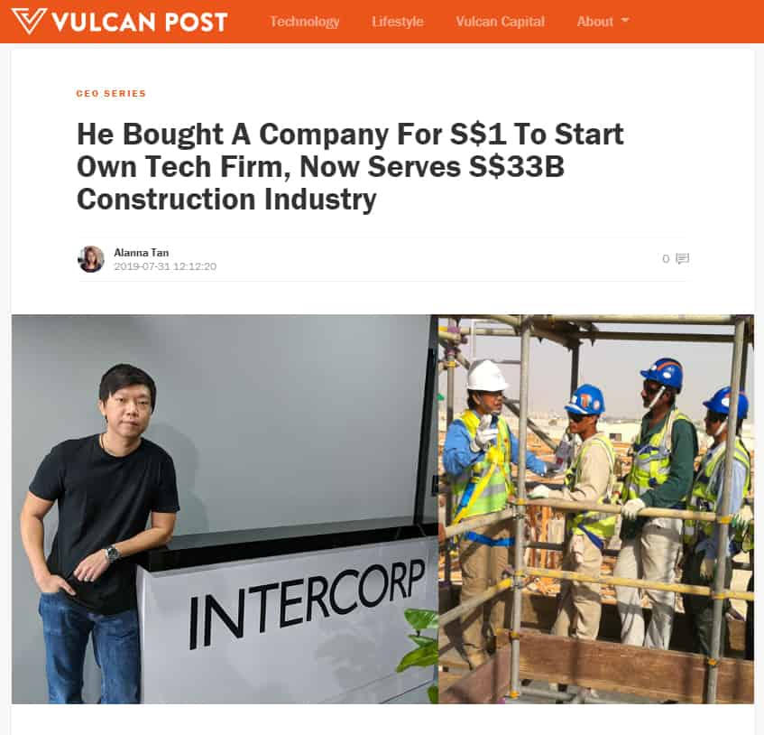 "CEO Series - ""He Bought A Company For S$1 To Start Own Tech Firm, Now Serves S$33B Construction Industry"""