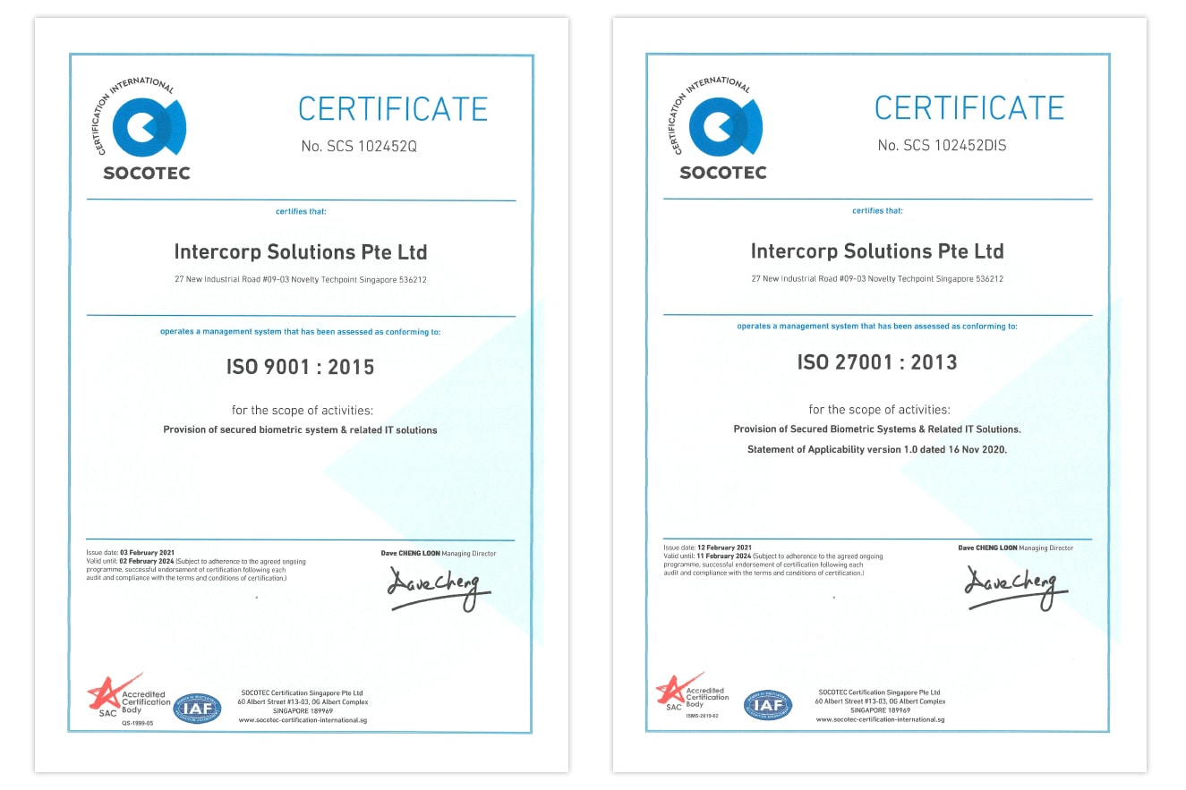 Intercorp is ISO 9001 and ISO 27001 Certified!